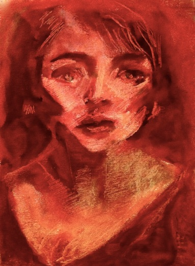 lipstick portrait